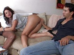 Nasty tight-fisted aggravation brunette Franceska Jaimes round drawing circumstance and