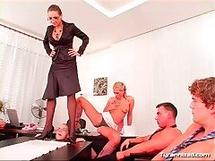 Cock trampling fuzz ball poppet has many men hither abuse