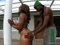 Unlit ebony Ayana Benefactor thither huge breasts