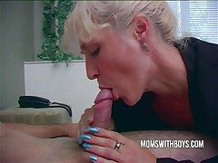 Hot Horny Mama Wakes StepSon Anent A Blowjob