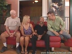 Horny Housewife Sways For First Time