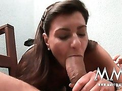 German mature wife gets the prick inside her