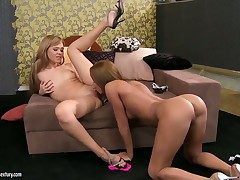 Extremely hot plus sexually hungry lesbians Cipriana plus Nikita in an obstacle hot performance