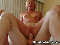 Dispirited Suz is a slutty milf who takes hard young