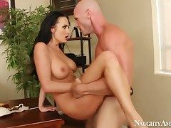 Sexy Alektra Blue gets her neglected pussy drilled by Johnny Sins from behind at near hardcore designation lovemaking
